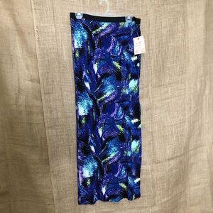 Derek Heart SZ M Maxi Skirt Stretchy Print Long